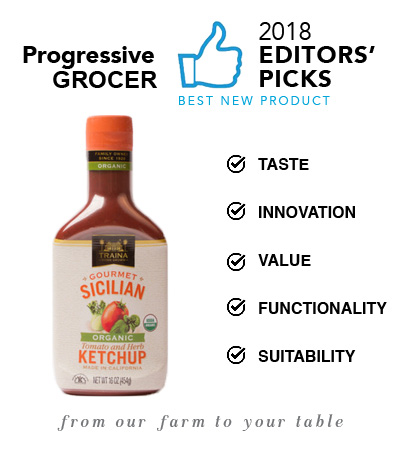 Traina Home Grown Gourmet Organic Sicilian Ketchup