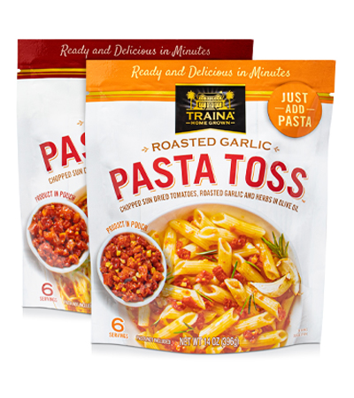 Tuscan Herb and Roasted Garlic Pasta Toss in Resealable bags
