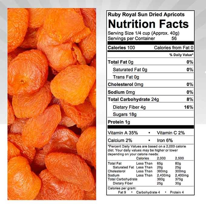 California Sun Dried Ruby Royal Apricots - Jumbo