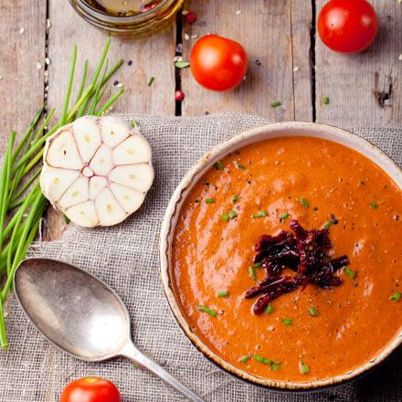 bowl of california sun dried tomato soup