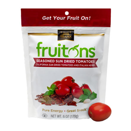 fruitons Seasoned Sun Dried Tomatoes in 6 oz resealable bag