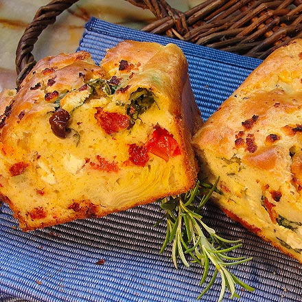 Savory Bread with California Sun Dried Tomatoes
