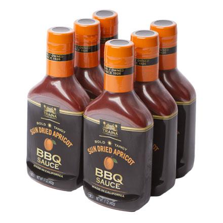 Sun Dried Apricot BBQ Sauce - Case - 6pk - 17 oz/Bottle