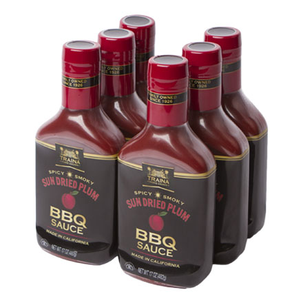Sun Dried Plum BBQ Sauce - Case - 6pk - 102 oz
