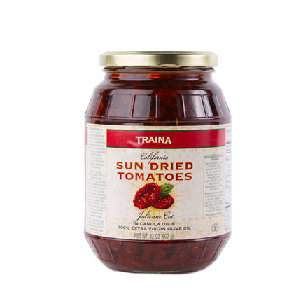 California Sun Dried Tomatoes in Oil - Julienne Cut - 1- 32 oz