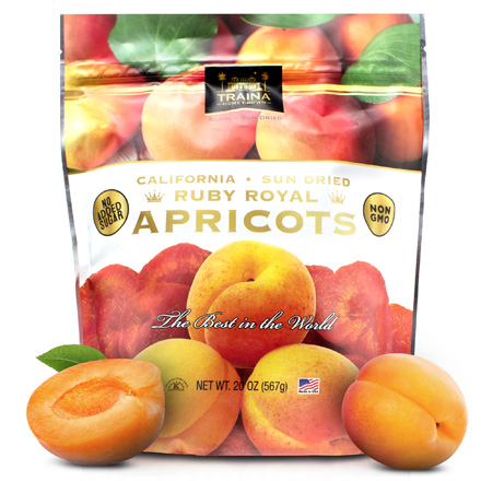 California Ruby Royal Sun Dried Apricots - Fancy
