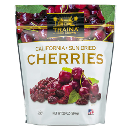 dried cherries halves packaged in a 20 ounce resealable bag