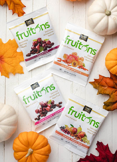 Traina Home Grown fruitons® Sun Dried Fruit Snack Bags