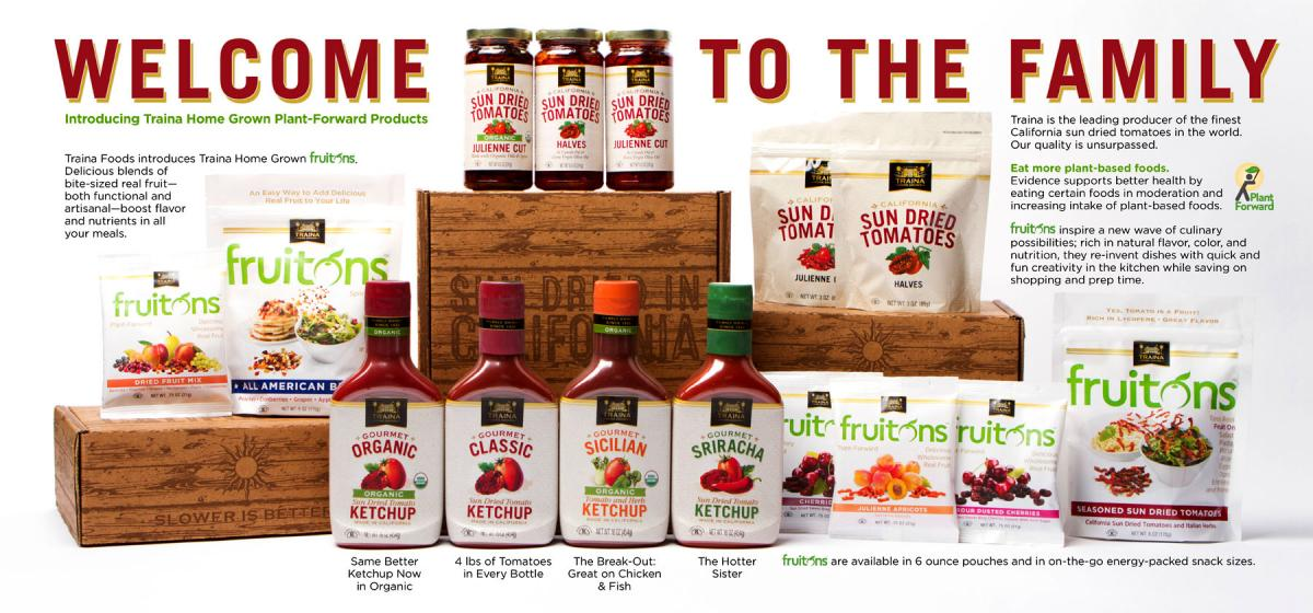Traina Homegrown Ketchups and Fruit Products
