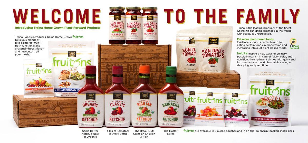 Traina Homegrown Ketchups and Fruit Products