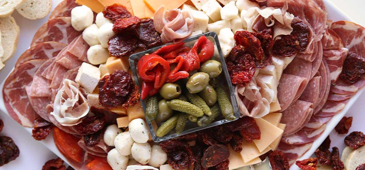 California Sun Dried Fruit & Savory Cheese Plate Appetizer