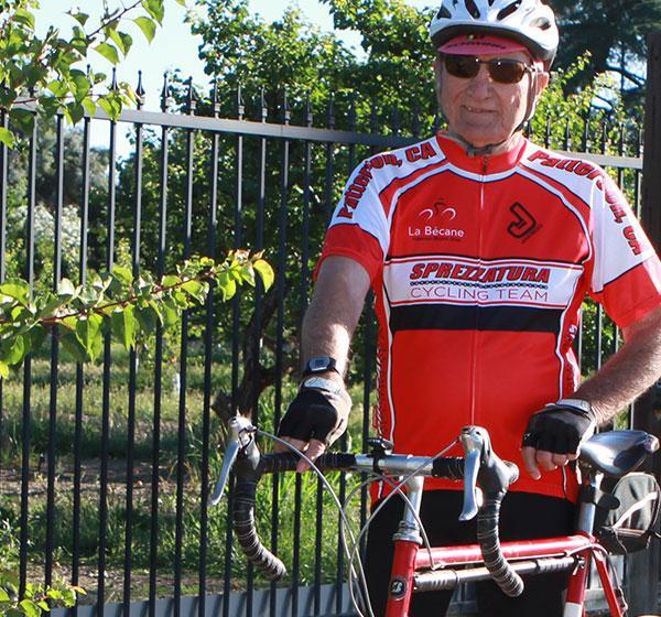 Cyclist Bob Kimball