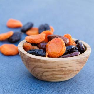 Bowl of Apricots and Dried Fruit