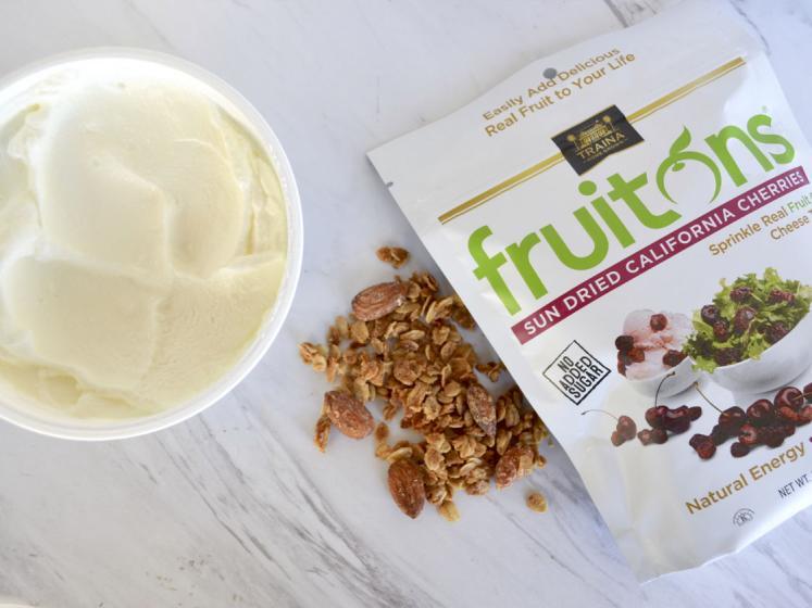 Yogurt with fruitons® California Sun Dried Cherries