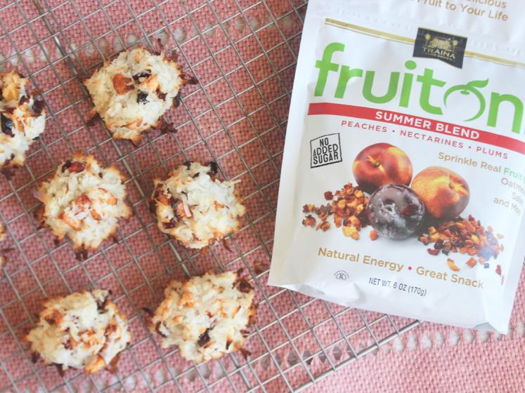 Coconut Macaroons with Traina® Home Grown fruitons® Summer Dried Fruit Blend