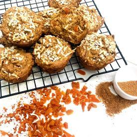 California Sun Dried Apricot Whole Wheat Coconut Muffins