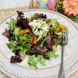 California Sun Dried Nectarines and Burrata Salad
