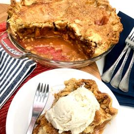 California Sun Dried Peach Pie