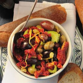 Sun Dried Tomatoes With Olives and Raisins