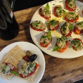 Sun Dried Tomato-Tabbouleh Appetizer