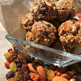 No Bake Sun Dried Fruit Energy Balls