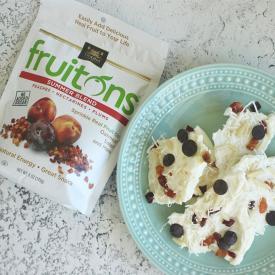 No-Bake Greek Yogurt Bark With fruitons® Summer Blend.