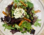 California Sun Dried Nectarines and Burrata Salad