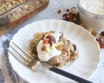 Warm Oatmeal Bake with fruitons® All American Dried Fruit with Yogurt Topping