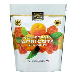 dried apricot halves packaged in a 20 ounce resealable bag