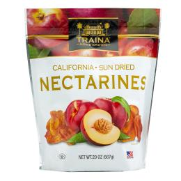 dried nectarine halves packaged in a 20 ounce resealable bag
