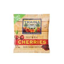Sour Coated Sugar Cherries 24 bags - 1oz