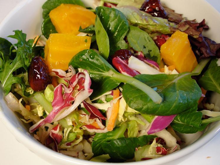Golden Beet & Dried Bing Cherry Green Salad
