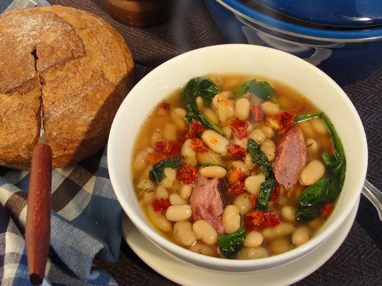 Ham, Bean & Sun Dried Tomato Soup