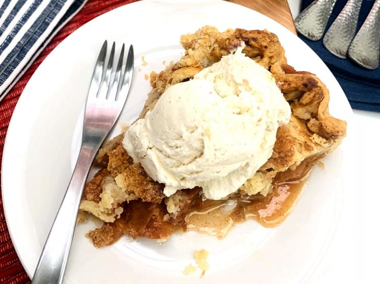 California Dried Peach Pie