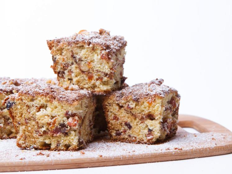 Sour Cream Streusel Coffee Cake with Dried Fruit