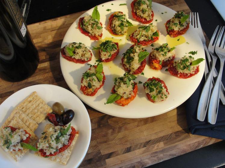 Sun Dried Tomato Tabbouleh Appetizer