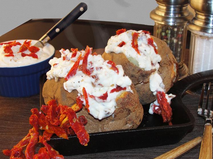 Sun Dried Tomato Stuffed Baked Potato