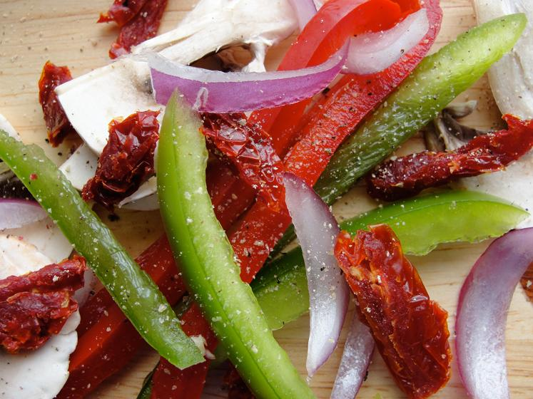 Sun Dried Tomatoes & Julienne cut Vegetables