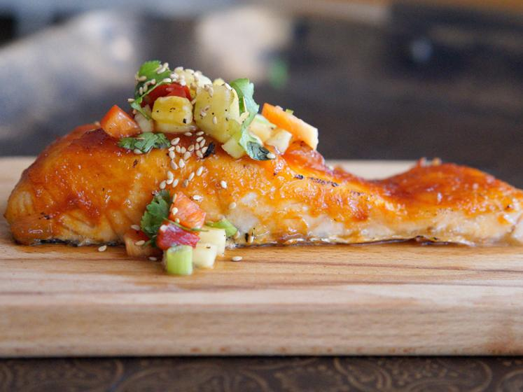 Sweet & Sour Sriracha Salmon